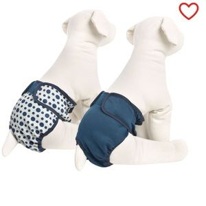 New! Top Paw 2-Pack Dog Diaper Washable Cover-Ups